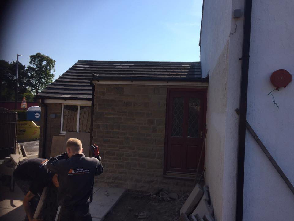 Single story side extension, Liversedge